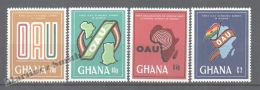 Ghana 1980 Yvert 688-91, First OUA Economic Summit, African Unity - MNH - Ghana (1957-...)