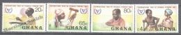 Ghana 1981 Yvert 730-33, International Year Of Disabled Persons - MNH - Ghana (1957-...)
