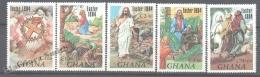 Ghana 1984 Yvert 833-37, Easter, Scenes Of Christ´s Life - MNH - Ghana (1957-...)