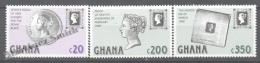 Ghana 1990 Yvert 1104-06, 150th Anniversary First Postage Stamp (I) - MNH - Ghana (1957-...)