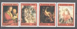 Ghana 1992 Yvert 1326-29, Easter, Paintings (I) - MNH - Ghana (1957-...)