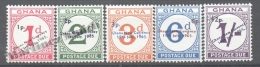 Ghana 1967 Postage-Due Yvert 11-15, Overprinted New Values - MNH - Ghana (1957-...)