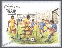 Ghana 1989 Yvert BF 138, Football World Cup, Overprinted Winners - Miniature Sheet - MNH - Ghana (1957-...)