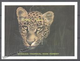 Ghana 1990 Yvert BF 154, Fauna, Leopard - Miniature Sheet - MNH - Ghana (1957-...)