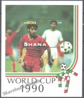 Ghana 1990 Yvert BF 159, Italia ´90, Football World Cup, Soccer - Miniature Sheet - MNH - Ghana (1957-...)