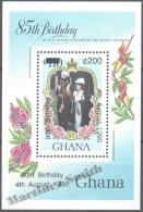 Ghana 1990 Yvert BF 162A, 90th Ann. Ween Mother, Overprinted - Miniature Sheet - MNH - Ghana (1957-...)