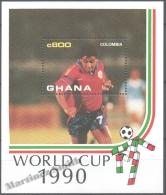 Ghana 1990 Yvert BF 164, Italia ´90, Football World Cup - Miniature Sheet - MNH - Ghana (1957-...)