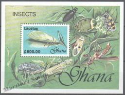 Ghana 1991 Yvert BF 173, Fauna. Insects - Miniature Sheet - MNH - Ghana (1957-...)