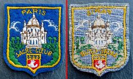 Patch Écusson Tissu Touristique : France - Paris - Montmartre Et Le Sacré Coeur - Blason - Ecussons Tissu