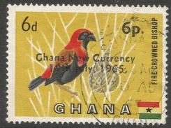 Ghana. 1965 New Currency O/P. 6p On 6d Used. SG 385 - Ghana (1957-...)