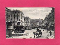 38 ISERE, GRENOBLE, La Place Grenette, Animée, Chevaux, 1916, (A. V.) - Grenoble