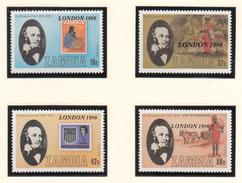 Zambia - XX - London 1980 - Michel 221/224 - Cote 3.00 - Rowland Hill