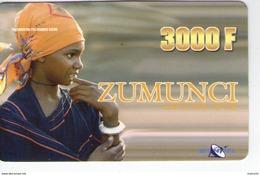NIGER PREPAYEE PREPAID CARD ZUMUNCI SONITEL 2004 TRES RARE 3000 CFA  FILLE AFRICAINE AFRICAN GIRL RAGAZZA PEUL PEULH - Niger