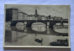 FIRENZE- PONTE A S.TRINITA' VIAGGIATA FP 1935 - Firenze