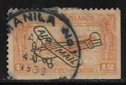 United States Of America Airmail Airplane Aviation 12 Centavos Used Stamp # AR:165 - Air Mail