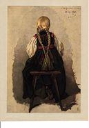"""Reproduction Ancienne """"Paysanne"""" De Ludwig KNAUS  Ft 17,5 X 25 Cm - Prints & Engravings"""