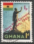 Ghana. 1965 New Currency O/P. 1p On 1d Used. SG 381 - Ghana (1957-...)