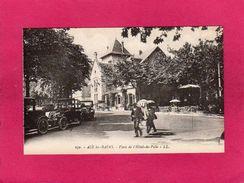 73 Savoie, AIX LES BAINS, Place De L'Hôtel De Ville, Animée, Voitures, (L. L.) - Aix Les Bains
