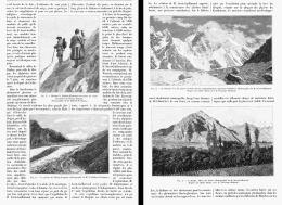 RECENTES EXPLORATIONS  SUR LES GLACIERS DE L'HIMALAYA  1904 - Géographie