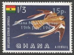 Ghana. 1965 New Currency O/P. Air. 15p On 1/3 MNH. SG 392 - Ghana (1957-...)