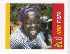 NIGER PREPAYEE PREPAID CARD CELTEL 2004 NIAMEY TRES RARE 1000 CFA FILLE GIRL RAGAZZA MAID - Niger
