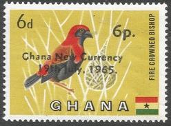 Ghana. 1965 New Currency O/P. 6p On 6d Mint Hinged. SG 385 - Ghana (1957-...)