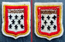 Patch Écusson Tissu Touristique : France - Région Limousin - Blason - Ecussons Tissu