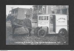 CAP DE LA MADELEINE - TROIS RIVIÈRES - QUÉBEC - LAITERIE I. GUÉRIN - VOITURE DE LIVRAISON AVEC ATTELAGE DE CHEVAL - Trois-Rivières
