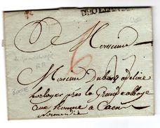 Lettre Manuscrite De Guadeloupe 24 Juin 1778 + D' HOLLANDE Pour Caen - Marcophilie (Lettres)