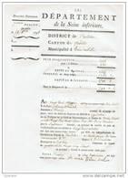 DOMAINES NATIONAUX : DEPARTEMENT DE LA SEINE INFERIEURE (1791) - Manuscripts