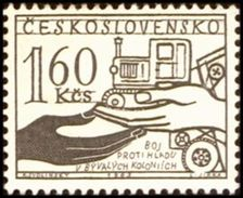 Czechoslovakia / Stamps (1963) 1330: The Fight Against Hunger (tractor); Painter: Karel Svolinsky - Landwirtschaft