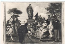 POSTAL   - MUSEO DE ARTE DE BARCELONA -EL MINUÉ 1756 (GIOVANNI BATTISTA TIÉPOLO 1696-1770 ) - Museos