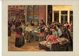 """Reproduction Ancienne """"Rue Des Juifs à Amsterdam"""" De LIEBERMANN  Ft 17,5 X 24,5 Cm - Estampes & Gravures"""