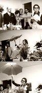 3 Amusantes Photos Originales Sur Le Parapluie Vintage, Le Cadeau Des Collègues ! Ouvert En Intérieur ! 1970 - Objetos