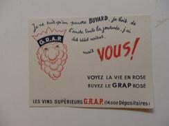 """Buvard Des Vins Supérieurs G.R.A.P. """"je Ne Suis Qu'un Pauvre Buvard, Je Bois L'encre Toute La Journée, J'ai Des Idées No - Agriculture"""