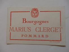 Buvard Des Bourgognes Marius Clerget à Pommard. - Agriculture