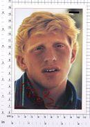 BORIS BECKER - Vintage PHOTO REPRINT BRAVO Autogrammkarte (86-B) - Tennis