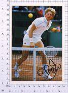 BORIS BECKER - Vintage PHOTO REPRINT BRAVO Autogrammkarte (86-C) - Tennis