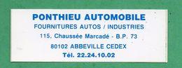PONTHIEU AUTOMOBILE 80 ABBEVILLE  / AUTOCOLLANT - Autocollants