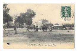 PARENTIGNAT  (cpa 63)     La Grande Place  ## TRES RARE ## -  - L 1 - France