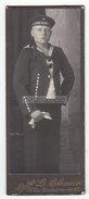 Photo CDV - Kiel CDV Foto Militär Uniform Matrose Der Kaiserlichen Marine Mützenband Kaiser Wilhelm, Circa 1910 - Krieg, Militär
