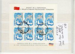 Sowjetunion Block 1989 Besuch Gorbatschow   (   N  5198  ) - Sonstige