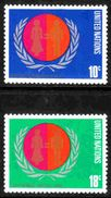 United Nations - Scott #258-59 MNH - New York -  VN Hauptquartier
