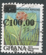 Ghana. 1988 Surcharges. 100c On 20p Used. SG 1262 - Ghana (1957-...)