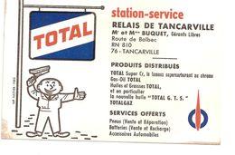 Carte  Publicitaire Station Service - Tancarville