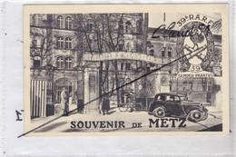 Souvenir De METZ (57) Quartier Des Valliéres / Poste De Garde /39e. R.A.R.F. (Peugeot 201 Premier Plan) - Metz