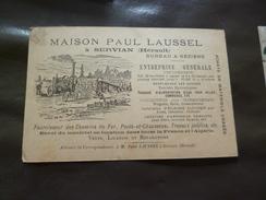 CPA 34 Hérault Servian Pub Paul Laussel Entreprise Eau Chemins De Fer....  BE - Other Municipalities