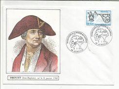 OBLITERATION BICENTENAIRE REVOLUTION DIRECTION DE LAPOSTE DU CANTAL AURILLAC 1989  DROUET - Postmark Collection (Covers)