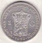 PAYS-BAS . 1 GULDEN 1930 . WILHELMINA .ARGENT - [ 3] 1815-… : Royaume Des Pays-Bas