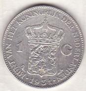 PAYS-BAS . 1 GULDEN 1931 . WILHELMINA .ARGENT - 1 Gulden
